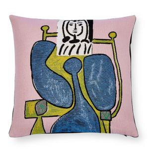 Housse de coussin Picasso - Femme assise en robe