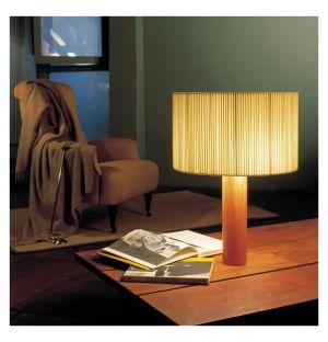 Lampe de table Moragas Sapele et coton naturel