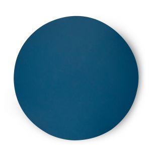 Set de table rond bleu pétrole Cuero - 36 cm