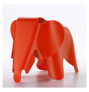 Tabouret rouge Eames Elephant - Small