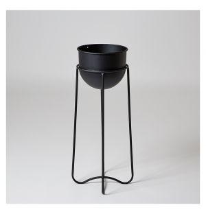 Cache-pot sur pied Triplets noir – 17 cm