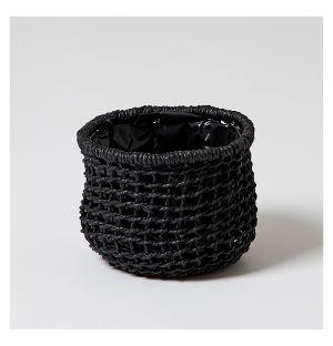 Pot Panier Carre Coloris noir Petit format