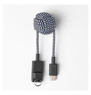 Câble KEY USB-A & USB-C zébré