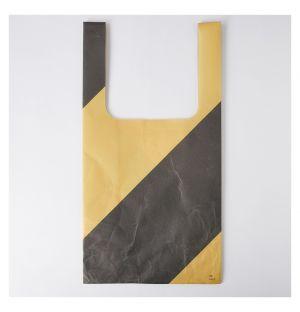 Sac de marché noir et beige