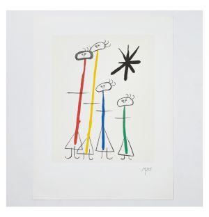 Affiche «Parler Seul People» de Joan Miró