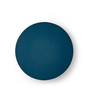 Dessous-de-verre rond bleu pétrole Cuero