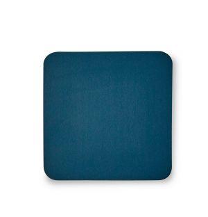 Dessous-de-verre carré bleu pétrole Cuero