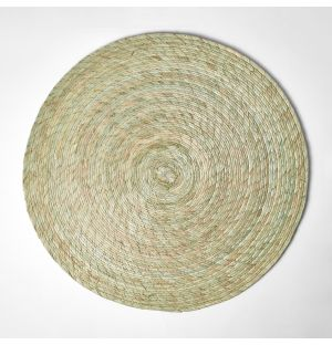 Set de table rond vert agave – 38 cm