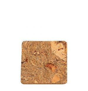 Dessous de verre carré en liège 10x10x0,5cm