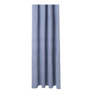 Rideau de douche en chambray bleu