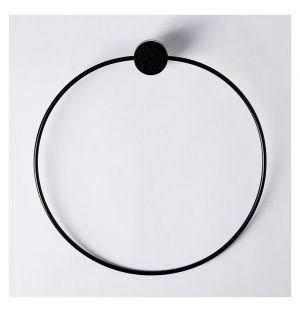 Porte-serviette anneau noir