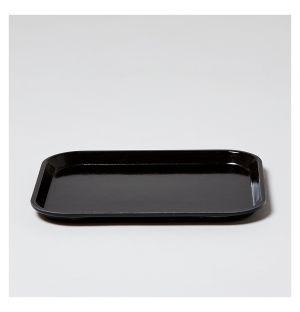 Plateau rectangulaire noir - 20,5x25cm