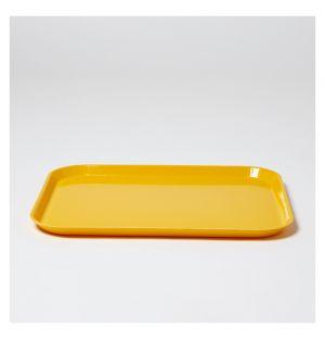 Plateau rectangulaire moutarde - 35,5x47,5cm