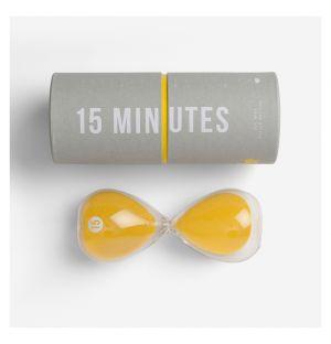 Sablier 15 minutes jaune
