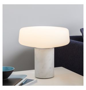 Lampe de table Solid marbre blanc- small