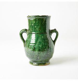Vase vert vintage Tamegroute - 27 cm