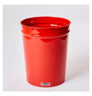Corbeille à papier rouge - S