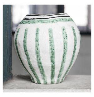 Vase décoratif Isa vert en papier mâché