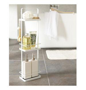 Présentoir de salle de bain blanc Tower