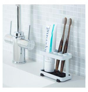 Support à brosses à dents Tower rectangulaire blanc