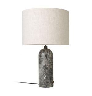 Lampe Gravity marbre gris & toile