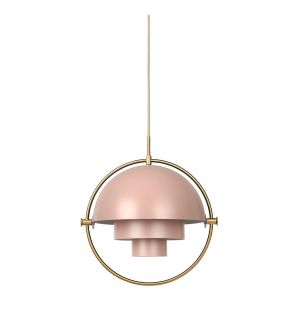 Suspension Multi-Lite rose et laiton - Gubi