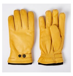 Gants Utsjö pour homme en cuir d'élan jaune