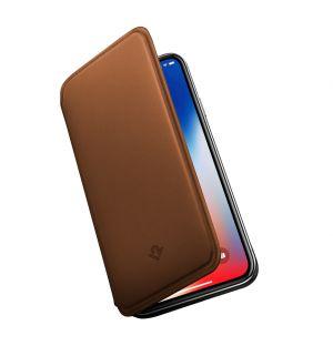 Coque SurfacePad pour iPhone X en cuir cognac