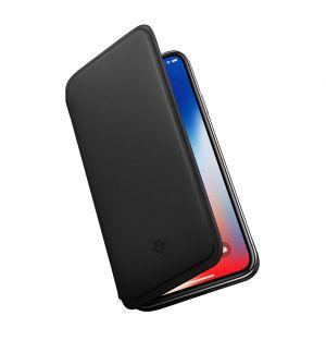 Coque SurfacePad pour iPhone X en cuir noir