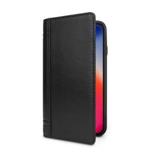 Coque Journal pour iPhone X en cuir noir