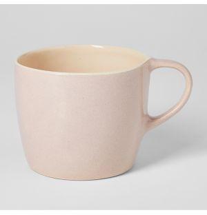 Mug rose en faïence