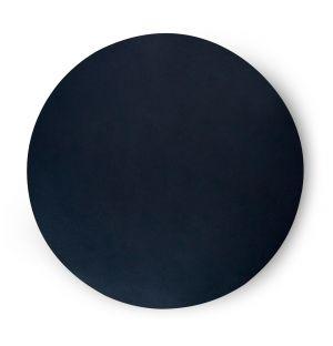 Set de table rond noir Cuero - 36 cm