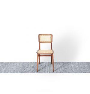 Tapis Kilim à mini losanges indigo - 70 x 250 cm