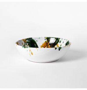 Saladier moucheté moutarde & vert – 30 cm