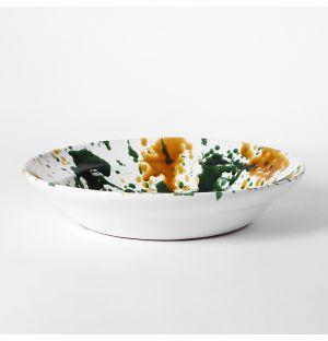 Saladier moucheté moutarde & vert – 40 cm