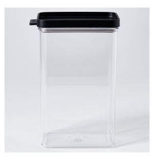 Boîte de conservation Omnia rectangulaire noire – 2000 ml
