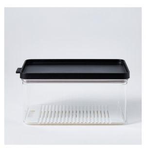 Boîte de conservation Omnia noire réfrigérateur – 2000 ml
