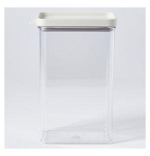 Boîte de conservation Omnia rectangulaire blanche – 2000 ml