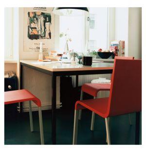 Chaise .03 rouge & piètement argent