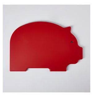 Planche à découper rouge Pig