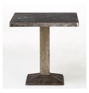 Table de café en métal 1950s - 60 x 60 cm