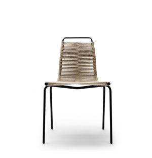 Chaise PK1 Cadre Noir & Corde Naturelle