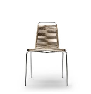 Chaise PK1 Cadre Acier Inoxydable & Corde Naturelle
