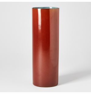 Vase rouille Tube – H 27 cm