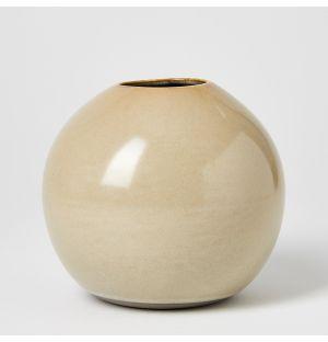 Vase beige Boule - Medium