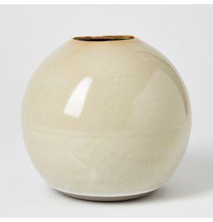 Vase beige Boule - Large