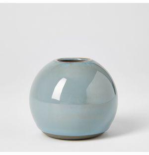 Vase gris bleu Boule - Mini