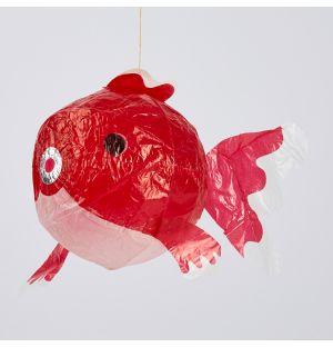 Ballon en papier japonais Poisson rouge