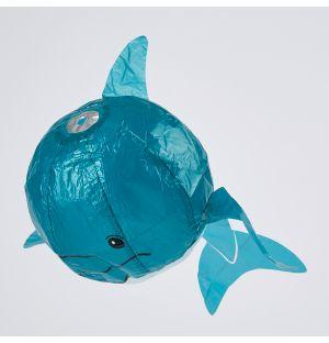 Ballon en papier japonais Baleine bleue