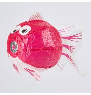 Ballon en papier japonais Poisson rose